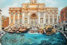 Αννα Κανατά- FONTANA_DI_TREVI: Το συντριβάνι των ευχών! / Σε έναν τοίχο κρεβατοκάμαρας στη Νίκαια, διαστάσεων 2,70 χ 2,50 περίπου, μετέφερα την πλατεία με το διάσημο συντριβάνι της Ρώμης.