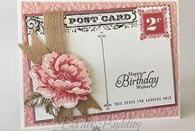 Handmade Cards- SU- Postcard  Background / Background stamp retired 2015