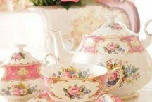 country tea set