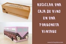 Reciclar cajas de vinos