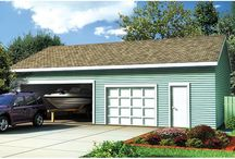 Garage Plans with Boat Storage / Detached Garage Plans with at least one extra-deep bay (28' or deeper) for boat storage