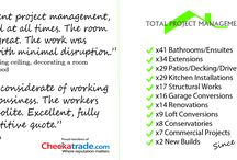 What others say about us / Here's some of the reviews that we have received via Checkatrade. We are very proud of our positive feedback.  http://www.checkatrade.com/TotalProjectManagementUKLtd/Reviews.aspx