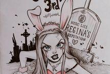 GCSE artwork (gothic)