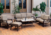 Patio Decor / Comfort, style, quality and durability is what you can expect from our line of patio furniture. They are built to last through the rough wear and tear you can expect from being outdoors, ensuring that you will enjoy the comfort of your patio furniture for years to come. Some available patio furniture sets can be seen below.