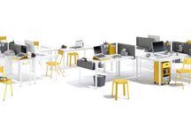 Bureaux MECCANO HOME / Le bureau doit être un lieu de création, de concentration, de convivialité. Meccano Home insuffle au bureau un vent de créativité et de flexibilité pour répondre de manière astucieuse à toutes les contraintes d'usage et de travail.   Les accessoires: porte-mug, bannettes de rangement, passe-câbles, pots à crayons offrent une aisance de travail, un confort et une praticité sans précédent