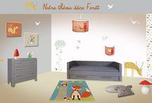 Chambre déco enfant Forêt