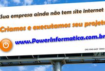Site POWER Informática / Algumas imagens do site da POWER Informática, desenvolvimento web.