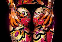 body paint art