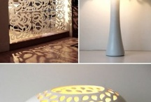 Decoración con láser / Muebles, artículos de decoración, y paredes modificadas con láser