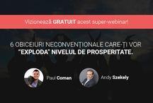 Webinarii de prosperitate / Webinarii cu mentori de succes din România.