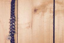 Preview V17 La Minuteria / Gioielli fatti a mano in rondelle zincate e eco pelle blue