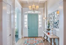 Home - Entryway / Front door Paint Console tables Pictures  Art Fashion  / by Casey Norris