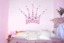 Girly kids rooms / Once my sons pirate room is done, his sister wants a pink, princess room makeover.. *must find ideas*