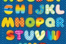 Apliques letras e numeros / Apliques para patchcolagem