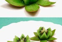 sculpture de fruits
