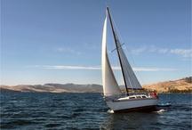 Flathead Lake Sailing! / Sail boats on the lake.