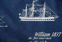Námořnická inspirace / námořnické látky a jiné dekorace