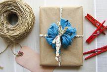 Packaging Ideas | Gift Wrap Ideas / Eco-friendly packaging and gift wrap ideas - reduce, reuse & recycle!