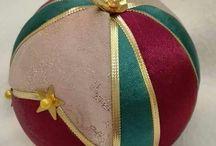Christmas ball - Kimekomi - handmade
