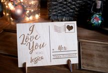 Wood post card greeting cards