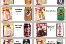 cake box and soda