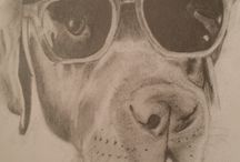 Lauren Gow Art / An amazing talent! Lauren can draw your precious pet whether past or present, in a beautiful original authentic portrait for you to treasure forever. This is her drawing in graphite pencil, of her precious Chocolate Labrador, Chester, wearing his cool shades, last summer.  You can find Lauren here on Pinterest.
