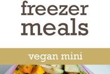 vegan-freezer meals / Because it's good to have a back up for those nights you just don't feel like cooking!