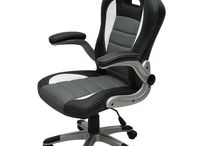 Office Computer Chair Desk Gaming Luxury Pc Wheels Seat Leather Executive Black