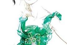 Beautiful fashion illustration / Inspiration