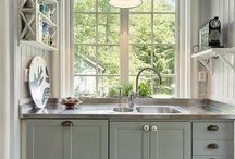 kitchen cupboard color / by Stacey Parris