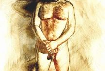 Male Nude Art of Cristobal Sanchez-Lopez (1966 - living) Barcelona - Spain / Male Nude Art of Cristobal Sanchez-Lopez (1966 - living) Barcelona - Spain.   Sprocket Trust project to educate homophobic Devon & Cornwall police one painting at a time.