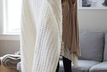 Chunky croched blanket