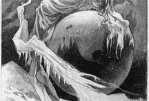 Fantasy Zeichnung, Formvokabulare / Er gibt keine echte Fantasy. Das Fantastische ist unerreichbar.
