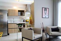 Apartamento 62m² - Alphaville / Projeto de decorado, moderno e contemporâneo, para a incorporadora Módena, localizado na Rua Ômega, em Alphaville - SP.