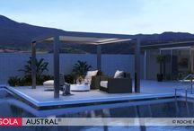 """Pergolas aluminium lames orientables / Austral® la pergola aluminium à lames orientables de Roche Habitat qui """"climatise"""" votre terrasse."""