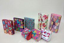 Meus trabalhos em Cartonagem / Peças feitas em Cartonagem. Envio para todo Brasil. http://www.elo7.com.br/cantinhodaalana / by Cantinho da Alana