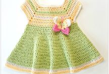 Infant dresses crochet