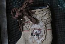 chaussettes et bottes de noel