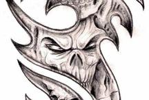 skulls distorted