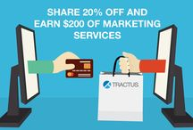 Special Offers From Tractus / Don't miss on our special offers, promotions and great deals on web design, apps and marketing!
