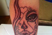 Dia de los muertos girl tattoo / Tattoo