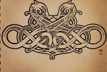 Norse dragon knotwork