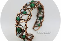 Wire Wrapped Copper Bracelets