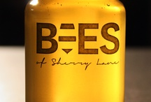 Bees of Sherry Lane / Label and packaging design mock-ups for my honey jars
