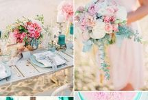 spring/summer wedding decoration/color combination ideas