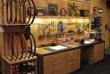 At-Home Cycle Shop / Ideas and inspiration for a bike work area and bike storage in the garage.  / by Kyle Murphy