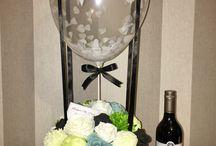 Hot air balloon flower arrangement