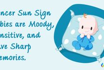 Baby's Sun Signs / What Are ‪#‎CancerSunSign‬ Babies Like? Cancer Sun Sign Baby - The Sensitive Little Angel Cancer sun sign baby needs a lot of affection and encouragement from you. They are independent thinkers and display signs of individualism quite early in life.