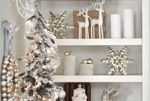 Cosy Christmas Neutrals / Feel festive this Christmas with nature inspired fabrics in chic neutral colours for a classic home style that will feel like a winter wonderland. #Christmas #neutrals #cream #white #grey
