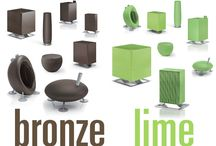 New color collection 15/16 / Every two years we introduce a new colour collection for selected Stadler Form products. Our designers have studied the wide array of colours and looked at trends in different areas of our lifes. And this year's winners are...bronze and lime! The dark-brown bronze and the bright-green lime are the colours we selected for 2015 and 2016.